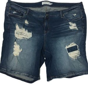 Torrid Distressed Bermuda Jean Shorts 24